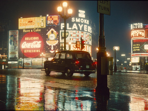Vintage Neon Signs in London 1962